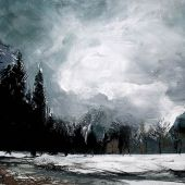 Sold to Private Collector - Yosemite Valley in winter, acrylic landscape, California