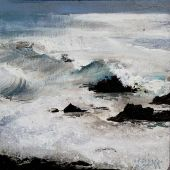 Sold to Private Collector - Sea Ranch, Pacific Ocean, Northern California, acrylic-landscape