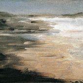 Sold to Private Collector - The Mendocino Coast in California - acrylic landscape