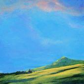 Sold to Private Collector - Po'ipu Kaua'i: Inland view, Hawai'i - acrylic landscape