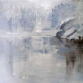 Artist's Private Collection - Merced River: Yosemite, California in Winter - acrylic landscape
