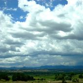 Road to Taos, Northern New Mexico: Clouds and mesa - Landscape Photography