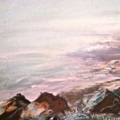 Sold to Private Collector - Monterey, California: Fog on the Beach