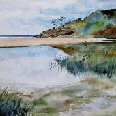 Cylinder Beach, Stradbroke Island, Queensland, Australia: Lagoon